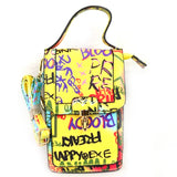 Graffiti cell phone crossbody bag - multi 1