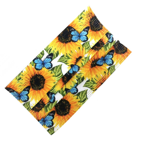 [50 PC] disposable mask - sunflower & butterfly