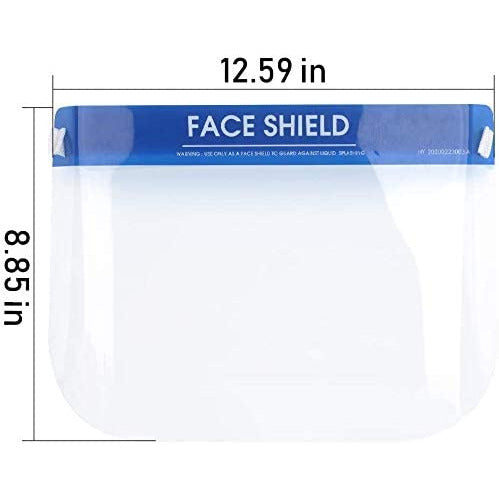 [10PC PACK] Face Shield with elastic band and comfort sponge