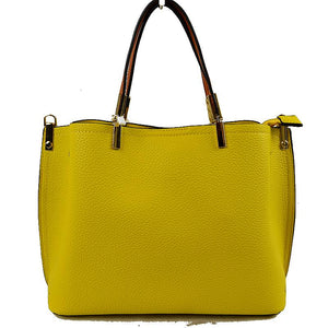 Textured tote - yellow