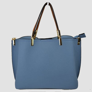 Textured tote - blue