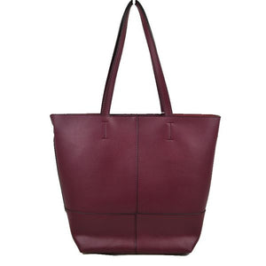 Market tote & pouch - burgundy