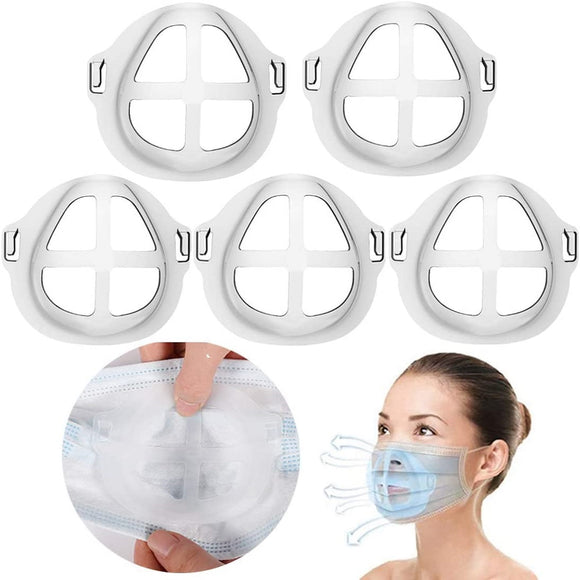 Silicone 3D Mask Bracket 5 PC Pack