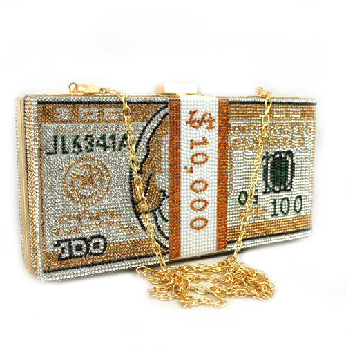 Cash Billions Clutch Bag - gold
