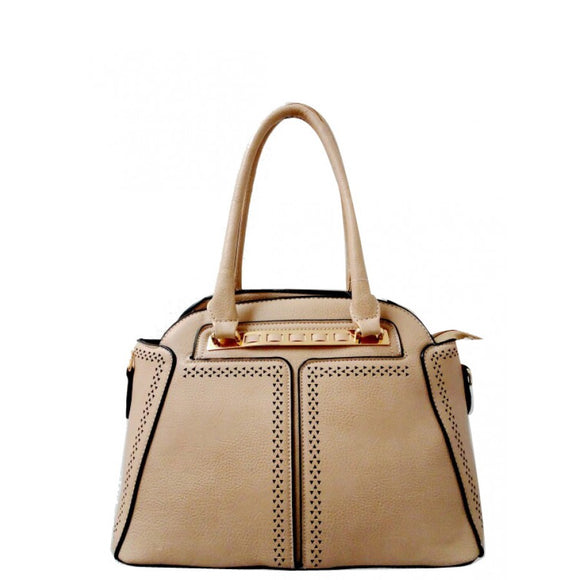 Fashion dome tote - nude