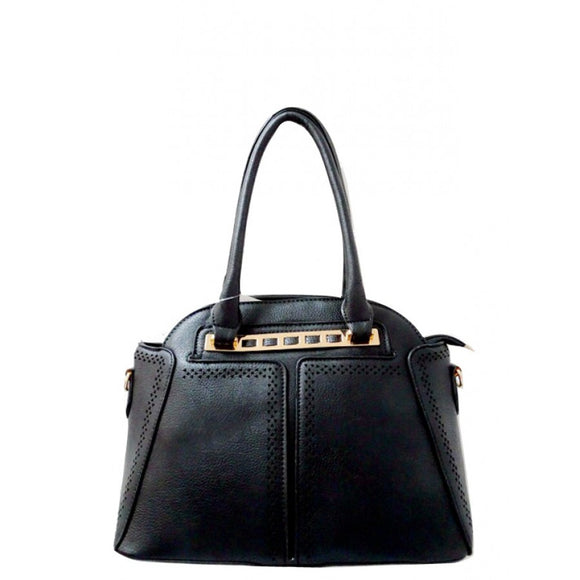 Fashion dome tote - black