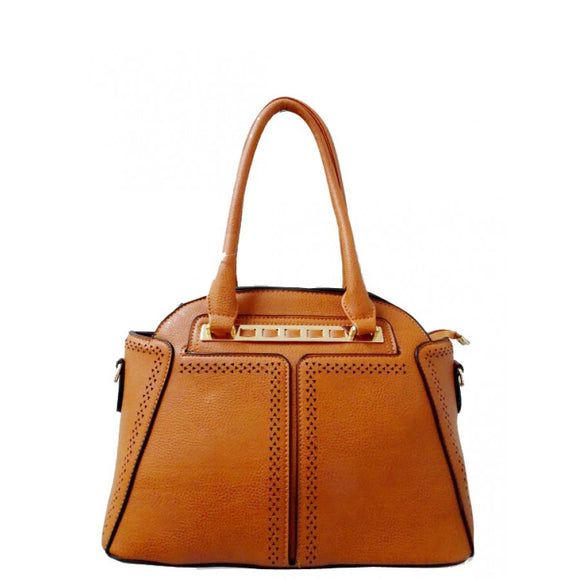 Fashion dome tote - tan