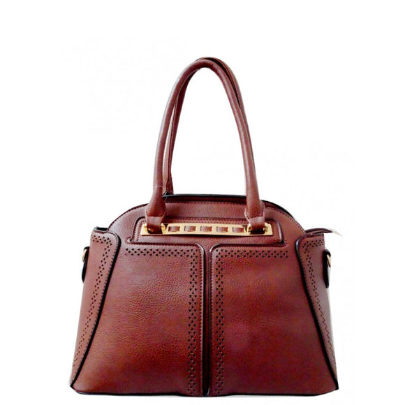 Fashion dome tote - coffee