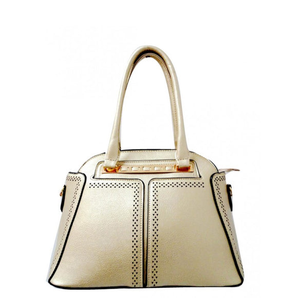 Fashion dome tote - gold