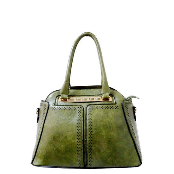 Fashion dome tote - green