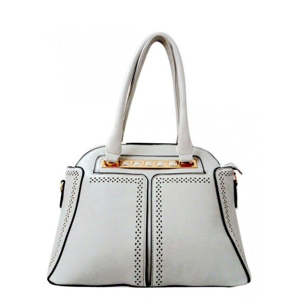 Fashion dome tote - gray