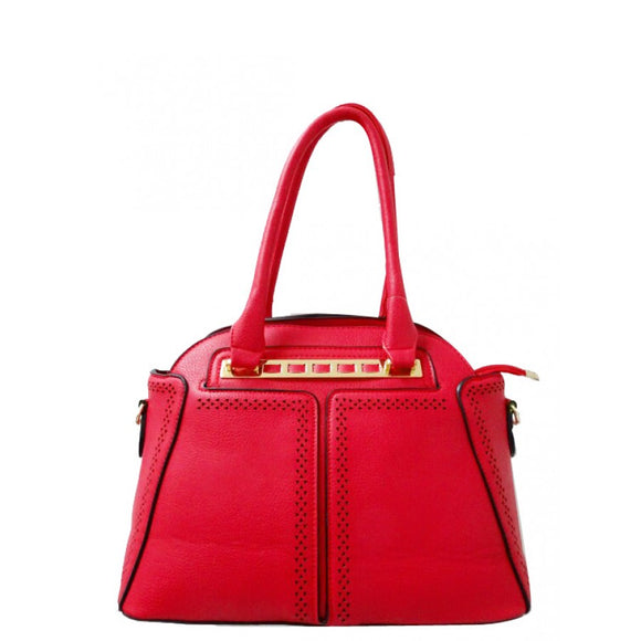 Fashion dome tote - red