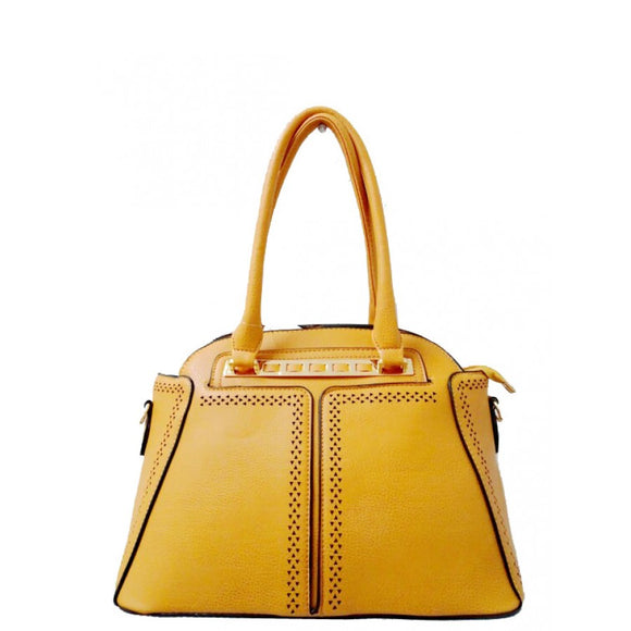 Fashion dome tote - yellow