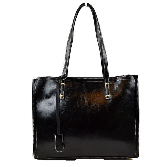 Stitch tote - black