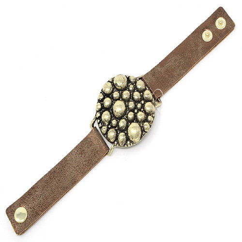 BUBBLE LEATHER BRACELET - Pink Vanilla