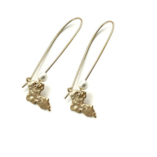 Louisiana State earring - gold