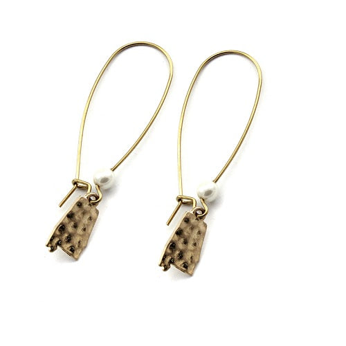 Alabama State earring - gold