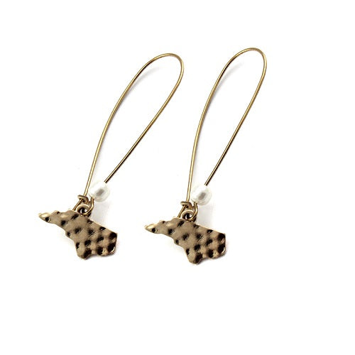 North Carolina State earring - gold