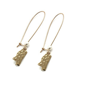 Mississippi State earring - gold