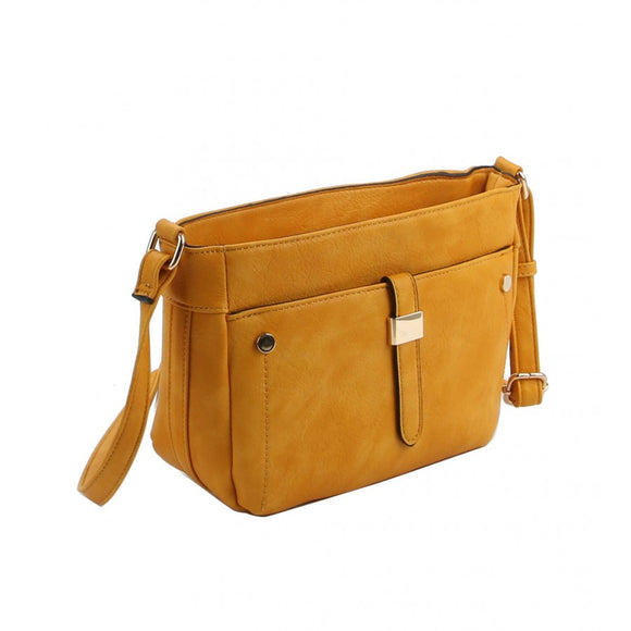 Front pocket crossbody bag - light stone