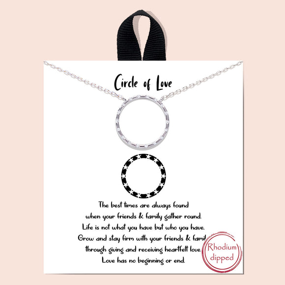 Circle of love necklace - silver