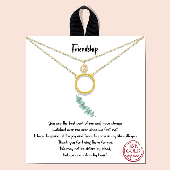 Friendship necklace - gold