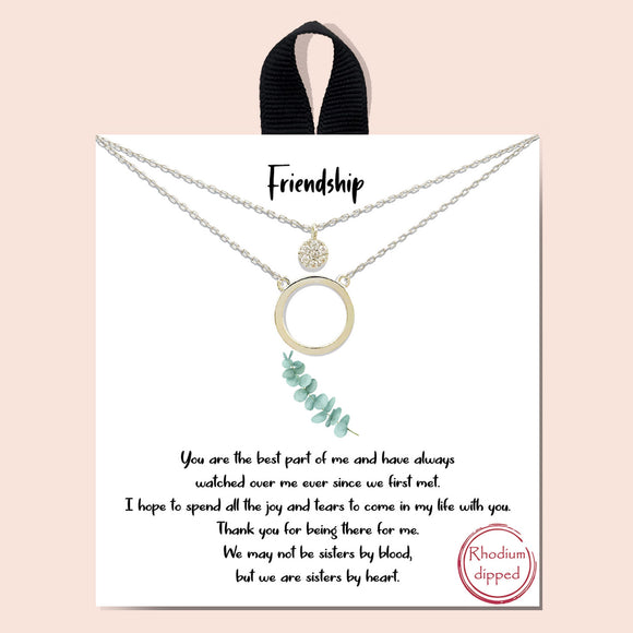 Friendship necklace - silver