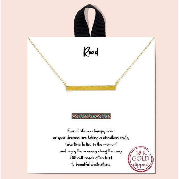 Road necklace - gold