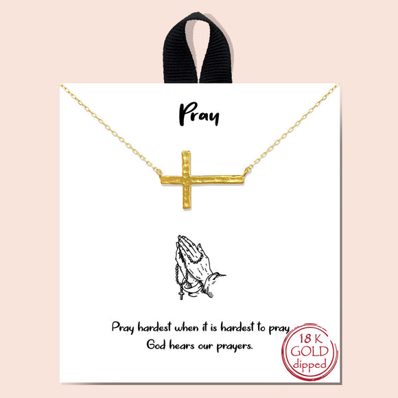 Pray necklace - gold