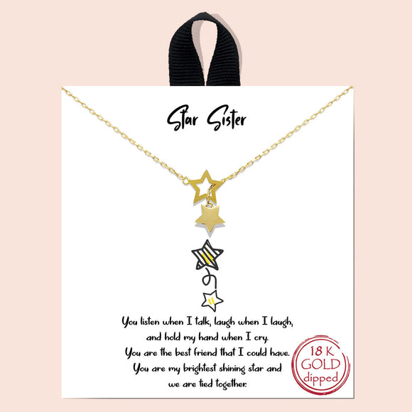 Star sister necklace - gold