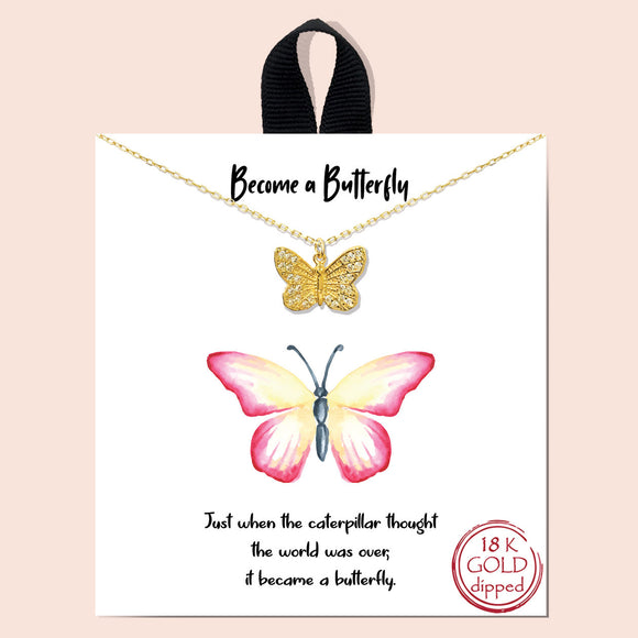 Become a Butterfly - gold