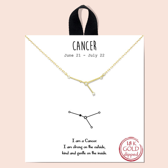 Zodiac - Cancer 6/21-7/22 - gold