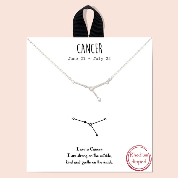 Zodiac - Cancer 6/21-7/22 - silver