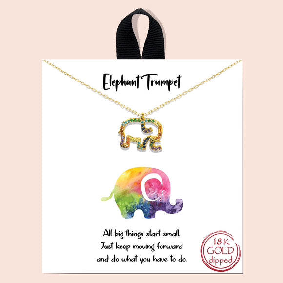 Elephant Trumpet - gold multi