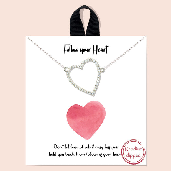 Follow your Heart - silver