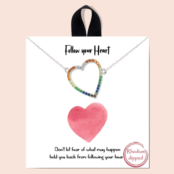 Follow your Heart - silver multi