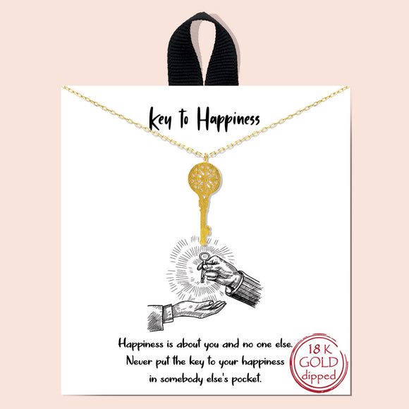 Key to Happiness - gold