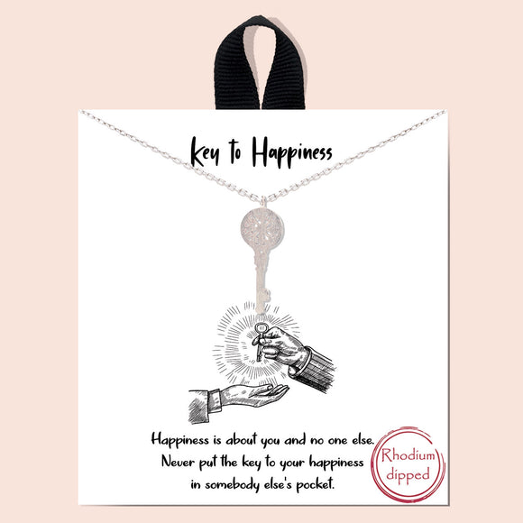 Key to Happiness - silver