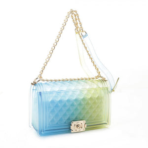 Zelly chain crossbody bag - blue yellow