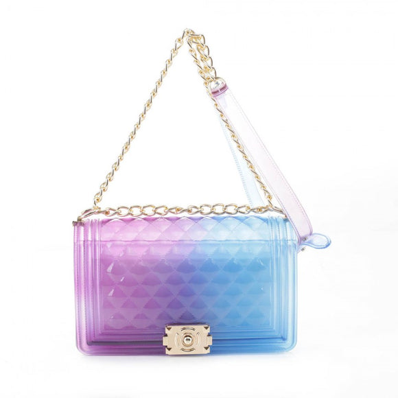 Zelly chain crossbody bag - purple blue