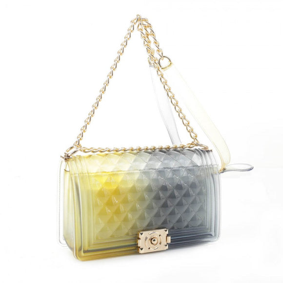 Zelly chain crossbody bag - yellow black