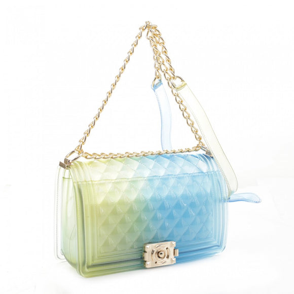 Zelly chain crossbody bag - yellow blue