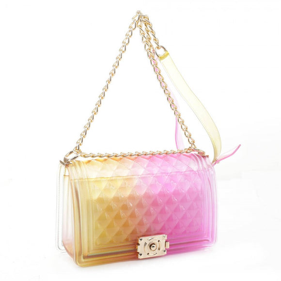 Zelly chain crossbody bag - yellow red