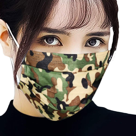Disposable 3PLY Mask - camo [50 PC]