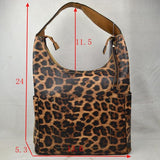 Leopard hobo bag - brown