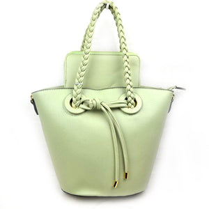 Knot handle bag with wallet - mint