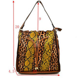 Leopard & snake hobo bag - multI5