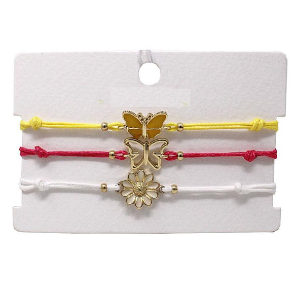 [6PC SET] Butterfly & Flower multi bracelet