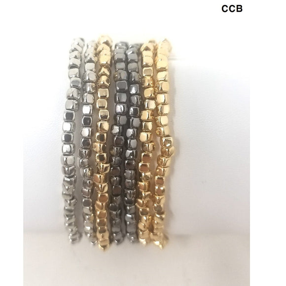 [2 PC] 7 mix ccb multi strand bracelet