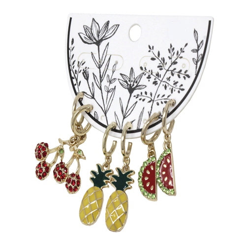 MIX FRUIT EARRING SET